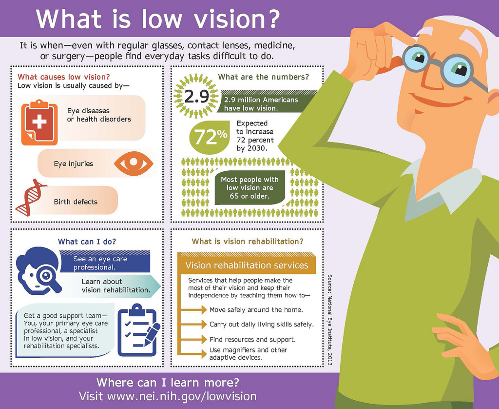 Low Vision Awareness Month Infographic